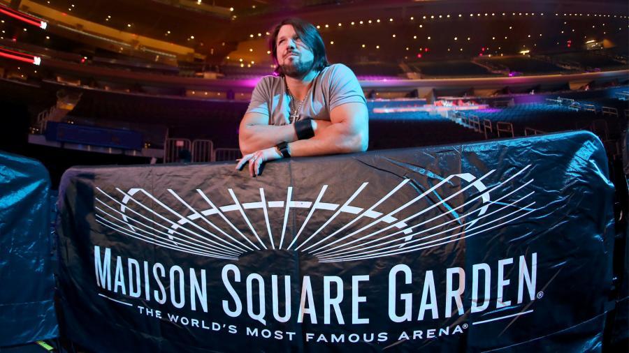 aj styles madison square garden