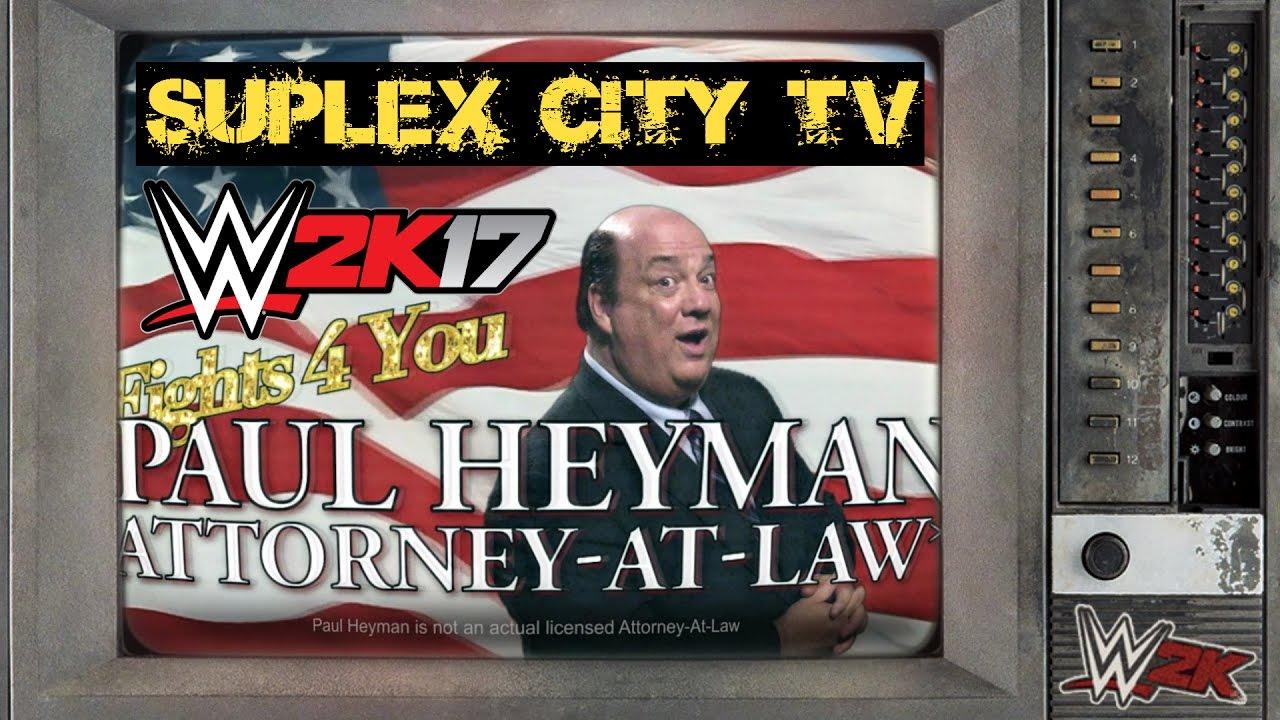 Vidéo : Paul Heyman nous accueille une fois de plus à Suplex City dans WWE 2K17