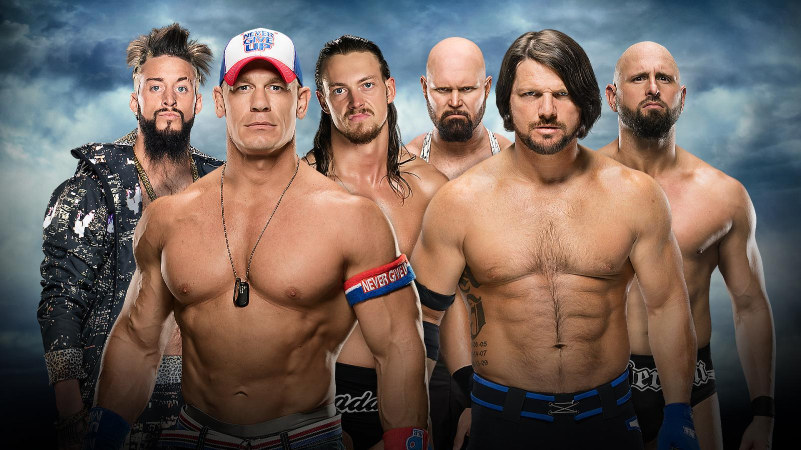 Battleground 2016 - John Cena, Big Cass & Enzo Amore Vs. The Club